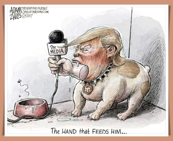 the hand that feeds him